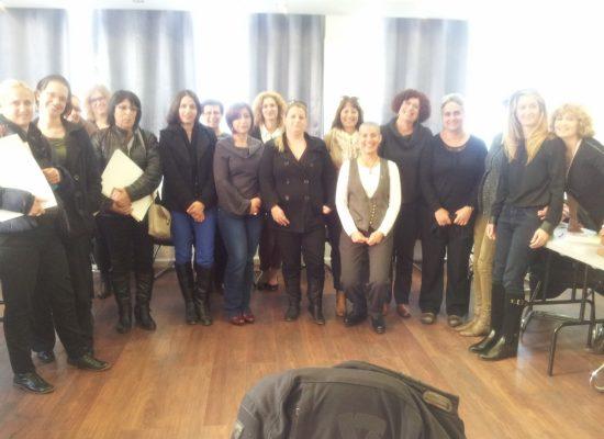 מסיימות קורס ממונות על מניעת הטרדות מיניות בארגון 02/2014