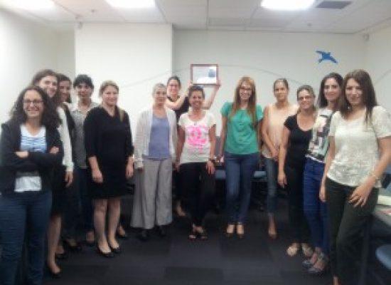 מסיימות קורס ממונות על מניעת הטרדות מיניות בארגון 06/2014